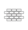 wall brick icon in flat style isolated on white vector image vector image