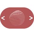 wire-frame design element sphere vector image vector image