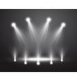 Realistic stage lighting background vector image