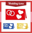 Set of of a wedding invitation vector image