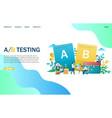 a b testing website landing page design vector image