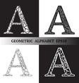 A geometric alphabet vector image