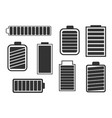 a set of eight different batteries vector image vector image