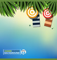 abstract of summer vacation background with vector image vector image