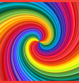 abstract rainbow swirl vector image
