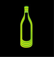 Abstract wine bottle vector image vector image
