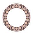 asian tribal circular frame vector image vector image