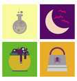 assembly flat icons halloween bag potion bottle vector image