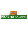 back to school theme with children on school bus vector image