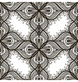 Black lace floral seamless pattern on white vector image vector image
