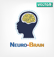 Brain Neurological symbol vector image