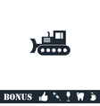 Bulldozer icon flat vector image