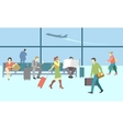 Business people in airport terminal travel vector image vector image