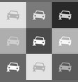 car parking sign grayscale version of vector image