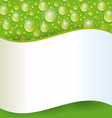 Card with green water drop vector image vector image