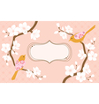 Cherry blossoms greeting card vector image vector image