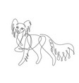 chihuahua dog one line drawing