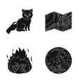 cutting a cat terrain plan and other web icon in vector image vector image