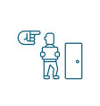 dismissal of an employee linear icon concept vector image vector image