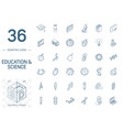 education and learning isometric line icons 3d vector image vector image