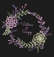 Floral wreath on the dark background