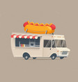 food truck hot dog vector image vector image