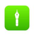 fountain pen nib icon digital green vector image vector image
