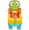 Funny Turtle Back to school vector image vector image