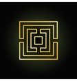 Gold thin line labyrinth icon vector image vector image