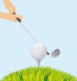 golf sport vector image vector image