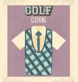 golf uniform masculine shirt vector image vector image