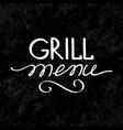 grill menu concept vector image vector image