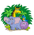 group of african animals vector image