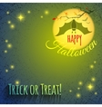 Halloween background with bat vector image