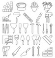 line art black and white 30 construction elements vector image