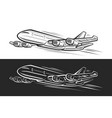 logo for flying plane vector image