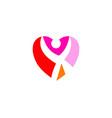 love hearth care logo concept love people logo vector image