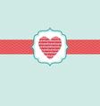 love in heart ornate frame vector image
