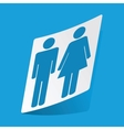 Man and woman sticker vector image vector image
