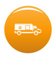 medical aid icon orange vector image vector image