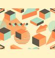 memphis seamless pattern geometric elements vector image vector image