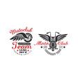 motoclub team premium quality retro logo templates vector image vector image