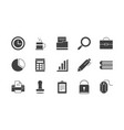 office supply equipment stationery icon set vector image vector image