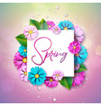 on a spring nature theme with vector image vector image