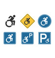 parking for handicap disabled sign wheelchair and vector image vector image