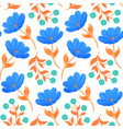 pattern with blue tulips vector image vector image
