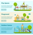 Playground Concept Banners vector image vector image