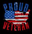 proud veteran us map vector image vector image