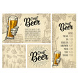 seamless pattern beer tap class can bottle and vector image vector image