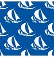 seamless pattern yachts and sailing ship vector image vector image